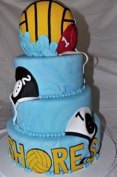 Shore Water Polo Banquet Cake... Cool idea to do your own school