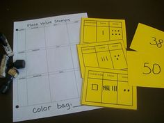 Great Place Value ideas at FIrst Grade School Box
