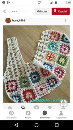 Fabulous Crochet a Little Black Crochet Dress Ideas. Georgeous Crochet a Little Black Crochet Dress Ideas. Crochet Squares, Crochet Granny, Crochet Motif, Crochet Stitches, Crochet Baby, Crochet Patterns, Granny Squares, Crochet Flower, Rug Patterns