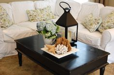 "Tips for how to give your coffee table that ""decorator"" look."