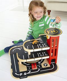Wooden Garage : Wooden Garage : Early Learning Centre UK Toy Shop