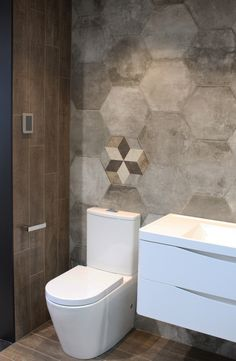 Crown Brown 150x900mm With Heritage Exagona On The Wall Showroom Display Tile Depot Albany