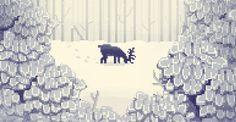 Pixel Art - Snow Scene