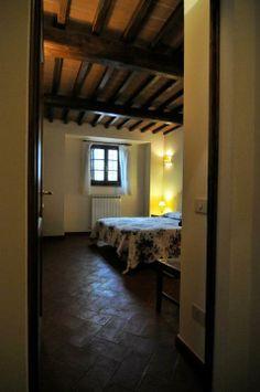 A room of La Fattoria del Rio di Sopra. Farmhouse in Umbria.