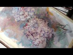 Hedwig's Art Hydrangea in watercolor - YouTube
