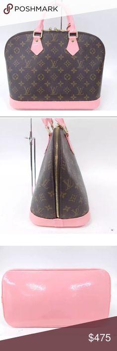 c28e99154e4d8 Auth Louis Vuitton Alma Pink Leather Monogram Bag good pre owned condition.  classic Alma monogram