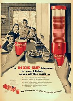 The children did not know that while they were at school that day, Mother had discovered the secret hypnotic powers of red Dixie cups