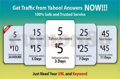 I will do 5 #Yahoo #Answers with your link from different High level accounts for $5 | SeoClearks