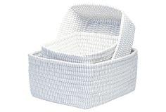 Asst of 3 Nesting Baskets, Gray on OneKingsLane.com