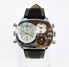 Oulm Man Metal Dial Watch with Quartz Movement/Compass/White dial Oulm. $25.99