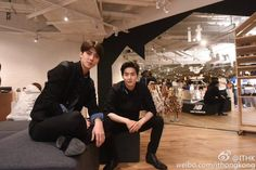 150508 i.t official FB page update: i.t MOKO K FASHION opening ceremony - SUHO AND SEHUN ♥