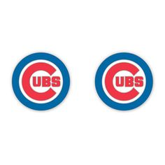 Ladies, put the finishing touch on your Cubs outfit with these Chicago Cubs Bullseye Logo Post Earrings from Wincraft! The earrings feature the Cubs bullseye logo on the front. Chicago Cubs Baseball, Chicago Cubs Logo, Baseball Hats, Cubs Gear, Cubs Merchandise, Cubs Shirts, Go Cubs Go, Logos, Pierced Earrings