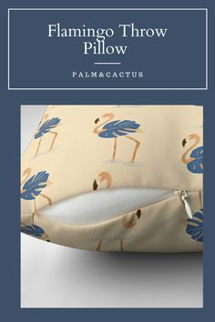 Five sizes available #throwcushions #throwpillow #pillow #pillowdecor #flamingodecor #flamingos #neutraltones #tropical Flamingo Gifts, Flamingo Decor, Throw Cushions, Neutral Tones, Retro, Decorative Pillows, Coin Purse, Tropical Leaves, Blue Nails