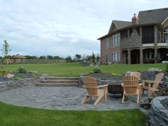 Patio and Rock Walls - Lakeside Cottages and Country Homes by Creative Landscape & Design