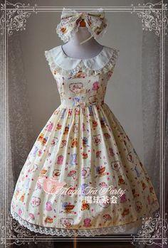 --New Arrival: Magic Tea Party Sweet Time Lolita Jumper Dress --Only $53.99 >>> http://www.my-lolita-dress.com/magic-tea-party-sweet-time-lolita-jumper-dress-ma-78