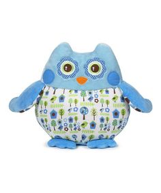 Look what I found on #zulily! Blue Birdhouse Owl Plush Toy by GANZ #zulilyfinds
