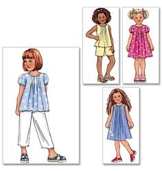B4176 | Children's/Girls' Top, Dress, Shorts and Pants | Children/Girls/Boys | Butterick Patterns