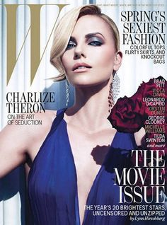 Charlize Theron is photographed by Mario Sorrenti and styled by Edward Enninful for the February 2012 cover story of W Magazine V Magazine, Fashion Magazine Cover, Fashion Cover, Magazine Covers, Magazine Design, Marie Claire, Vanity Fair, Charlize Theron Style, African Actresses