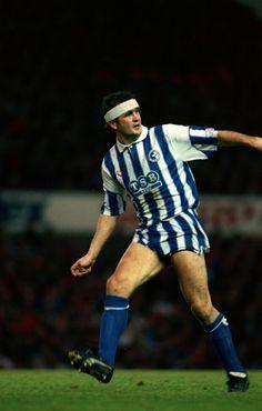 Steve Foster of Brighton in 1991. Brighton & Hove Albion, Brighton And Hove, Football Kits, The Fosters, Kicks, Clock, Style, Fashion, Soccer Kits
