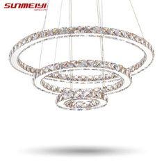 Modern LED Crystal Chandelier Lights Lamp For Living Room Cristal Lustre Chandeliers Lighting Pendant Hanging Ceiling Fixtures (32622376900)  SEE MORE  #SuperDeals