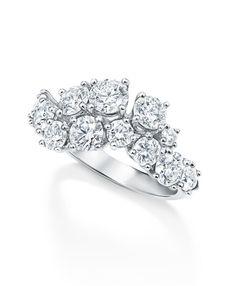 Bague Sparkling Cluster en diamants d'Harry Winston