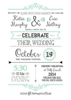 Customizable Wedding Invitation Template with Inserts | Pinterest ...