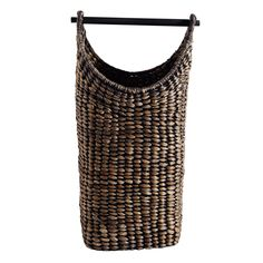 Shop online for luxury toilet roll holders from designer brands at Amara. Rustic Baskets, Large Baskets, Motifs Organiques, Tall Basket, Luxury Toilet, Water Hyacinth, Toilet Roll Holder, Wooden Handles, Home Textile
