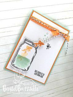 Birthday Card, Geburtstagskarte, Birtday Card, Birthday, Geburtstagskarte, Geburtstag Aquamarin, Pool Party, In Color, Peach, Pfirsich, Everyday's jar, Einweckgläser, Glasklare Grüße, Bastelbazzzille, Stempeln, Stanzen, Staunen, Embossing, Stampin' Up!, SU, Stampin Up