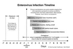 Enterovirus Infection Timeline Hand foot and Mouth timeline