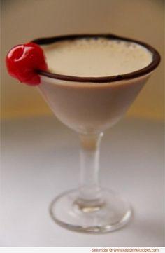 Boston Cream Pie Martini 1 oz. Bailey's Irish cream 1 oz. Vanilla Vodka 1 oz. Frangelico\ Splash Godiva chocolate liquer