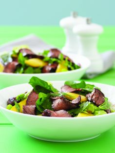 Beef & Mango Salad, mint and rocket: Perfect for a light lunch or meal and healthy too! Best Beef Recipes, Healthy Recipes, Australian Beef, Beef Salad, Mango Salad, Salad Ingredients, Vegetable Salad, Summer Salads, Salad Recipes
