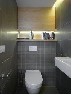 Mini-Loft Apartment in Prague: Bathroom and books - Dalibor Hlavacek