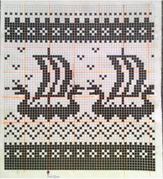 Bilder på veggen til felleskapet | VK Fair Isle Knitting Patterns, Fair Isle Pattern, Knitting Charts, Celtic Quilt, Chart Design, Pattern Design, Fair Isle Chart, Needle And Thread, Cross Stitch Patterns