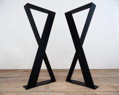 "28 ""x 20"" Flat Steel Table Leg, Height 26"" To 32"" Set(2)"