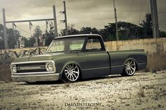 1970 Chevy Truck Name: Green Tea. Love it all except those lame wheels and tires. And left that beauty up! 67 72 Chevy Truck, Chevy C10, Chevy Pickups, Chevrolet Trucks, 1957 Chevrolet, Chevrolet Impala, Lowered Trucks, C10 Trucks, Pickup Trucks
