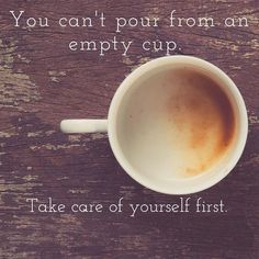 An empty cup...