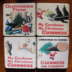 my goodness  my christmas  guinness    delicious coasters, vintage advertising