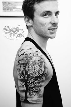 full side graveyard tattoo - Google Search