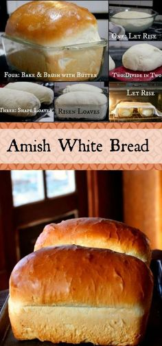 These gorgeous loaves of Amish White Bread are puffy and soft, a little sweeter than my honey buttermilk bread recipe but with a similar texture and a more buttery flavor. These are the loaves your grandma remembers. One of the most popular recipes on the