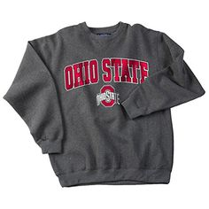 Compare prices on Ohio State Buckeyes Sweatshirts from top sports apparel retailers. Save money when buying sports-team sweatshirts. Ohio State Buckeyes, Ohio State University, Sweatshirt Outfit, Crew Neck Sweatshirt, Sport Outfits, Cute Outfits, College Hoodies, Ohio State Hoodies, College Apparel
