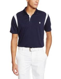 With mesh sleeves, placket, and shoulder piecings this mens short sleeve saddle shoulder golf polo shirt by Izod will make a great addition to any mans wardrobe