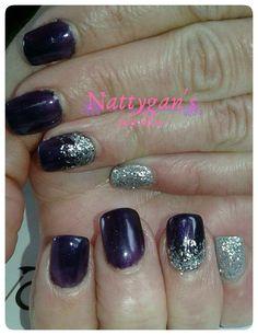 Bio Sculpture, Glitter Nails, Amethyst, Nail Art, Purple, Beauty, Glittery Nails, Amethysts, Nail Arts