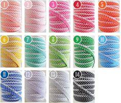 1 Yard Polka Dot Crochet Edge Double Fold Bias Tape Picot Bias | eBay