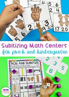 Subitizing Activities and Centers for Pre-K & Kindergarten