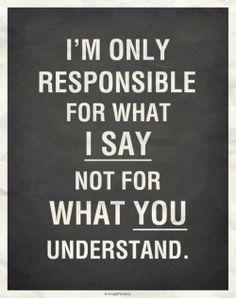 say versus understand