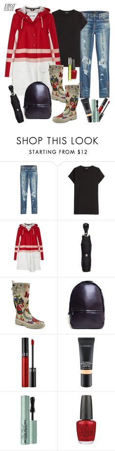"""""""Back To School:Hurricane Edition"""" by sereneowl ❤ liked on Polyvore featuring AMIRI, Balmain, Marni, Alexander McQueen, Western Chief, Caraa, Sephora Collection, MAC Cosmetics, Too Faced Cosmetics and OPI"""
