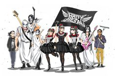 Babymetal with Kami band