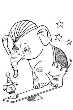 Djur Målarbilder för barn. Teckningar online till skriv ut. Nº 224