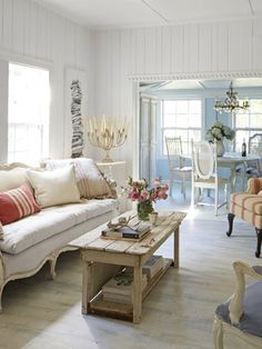 Inside the Happiest Little 1,375-Square-Foot Cottage...cute table