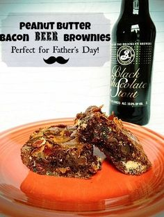 Peanut Butter Bacon Beer Brownies Recipe - This is NOT a healthy dessert, but it sure is delish!